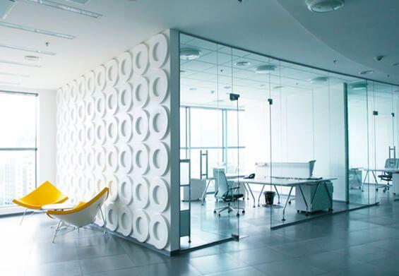 sklenené steny